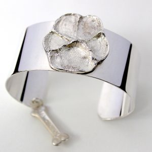 Loveprint-Paws-Silver-plate-Cuff-1-inch
